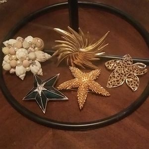 Huge brooches lot of 5 beautiful pieces PM 394A